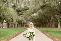 Boone Hall Plantation Wedding / Boone Hall Plantation wedding photos and bridal portraits in Charleston, SC with the Avenue of Oaks and Cotton Dock.