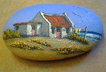 Ocean -painted rocks