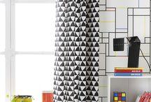 Pop Generation - / Tableau rassemblant des inspirations Pop : simplistes, géométriques et sublimant les couleurs primaires.