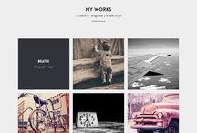 Designer website intro pages