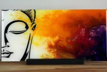 Buddha paintings on canvas