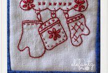 bom vintage redwork quilt