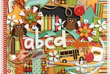School scrapbooking kits  / Kits and elements with a school theme