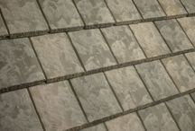 TEXTURED SLATE Concrete Roof Tiles / Textured Slate tile embodies an exquisite texture, beveled sides and a beautiful edge treatment that adds artful elegance to both modern and classic design styles.
