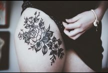 upper thigh tattoos