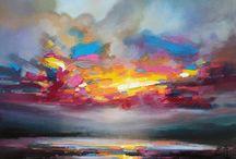 Paintings / Oil abstract & landscapes
