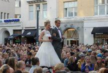 lyhyitä morsiuspukuja, short wedding dresses