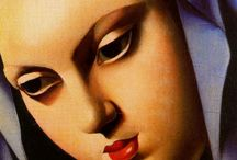 "Tamara de Lempicka / Tamara De Lempicka / Art Deco Artist Tamara de Lempicka (16 May 1898 – 18 March 1980), born Maria Górska in Warsaw, Poland, was a Polish Art Deco painter and ""the first woman artist to be a glamour star"". Her actual name was Maria Gorski, she was the daughter of a bourgeois family. She marries the solicitior Tadeusz Lempicki in 1916 and lives with him in St. Petersburg. In 1918 they flee the October Revolution to Paris."