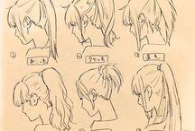 イラスト_髪型