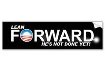 Lean Forward Bumper Sticker / Hilarious Lean Forward Bumper Sticker for your car