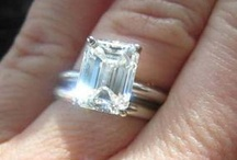 Emerald Cut Diamonds / The Emerald cut is a step cut with angled corners and rows of pavilion and crown facets that run parallel to the girdle.  The traditional Emerald cut is rectangular in shape.  To learn more, visit: http://www.pricescope.com/wiki/diamonds/emerald-cut-diamond