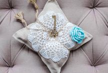 Our individual ring pillow / They can be ordered here: http://somethingoldbride.com/