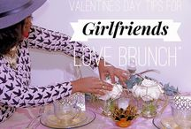 Girlfriend Valentines Brunch ~ Style Shoot | Stacy Armand Event Design / How to host a Valentines Brunch for a group of your closest girlfriends. ( Galentines ) #valentines #brunch #pink #gold #love #roses candles tablescape event