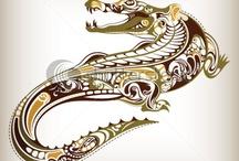 Crocodile art