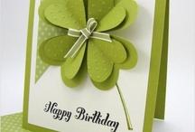 Geburtstags Karte mit Herzenin grün