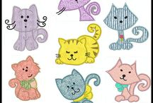 刺繍 ネコ