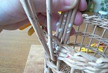 плетение корзин из бумажных трубочек