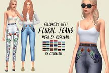 ts4 jeans, skirts ecc