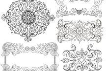 formas y bordes. ideas bordado