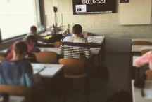Ondertussen...in de klas...