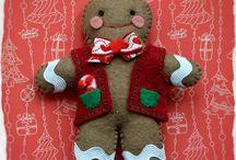 Christmas felt decorations- Świąteczne filcowe dekoracje / Filcowe rękodzieło do domu i dla dziecka