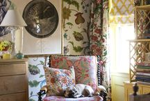 - Madcap Cottage - / We feature the Madcap Cottage fabrics from Robert Allen in our fabric department. These patterns and colors are gorgeous. Enjoy the inspiration featured! / by Fabrics & Furnishings