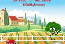 Healthy Love Story / See how Strawberry and Broccoli combo fall in love