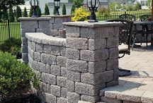 Retaining Walls / Wall systems offered in a multiple sizes, colors, and surfaces are ideal for retaining walls, free standing walls, columns, benches, outdoor kitchens, and more.