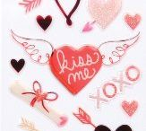 Valentine's Day Stickers / These Funky Hearts stickers feature fun patterns and glittery accents in various size and shape hearts. Perfect for scrapbooks, cards, notebook covers - almost anything.