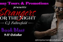 Blog Tour: Strangers for the Night by C.J. Fallowfield (9-11 October) / This board contains all the pins for the Blog Tour of Strangers for the Night by C.J. Fallowfield organized by Njkinny Tours & Promotions from 9-11 October