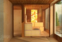Sauna wellness planning and realization / The concept is to create a combined wellness room inclusive of a sauna, a rest room and a shower. And the result is a custom interior masterpiece where health, functionality and design are combined all together.