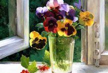 Pintando las flores