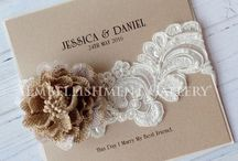Rustic Wedding Invitation Ideas & Inspirations / Embellished your rustic weddings with these beautiful burlap flowers from Embellishment Gallery® AUSTRALIA