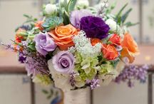 bridal bouquet orange