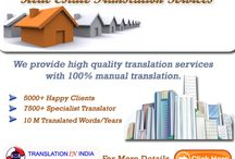 Real Estate Translation Services / TranslationInIndia is a Language translation company established in India. We have many years of practical contact with and observation of facts or events in the translation field, we provide over a hundred and fifty language translation services in India and all over the world.