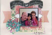 """Kit de scrap """"We are Family"""" / Créations réalisées avec le Kit """"We are Family"""""""