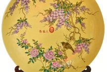 Asian Chargers / Plates with great tedious detail and elegance.