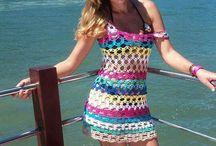 vestido de colores en crochet