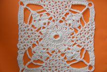 Tutorial crochet, Pontos, Squares, Diagramas / by Marcia de Lourdes Gomes