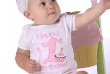 1st Birthday Girl / We understand how important it is to honor those special birthday moments in life whether it's a 1st birthday, 2nd birthday or any birthday age, we have the perfect outfit for you. See more of our designs at www.happybirthdayboutique.com