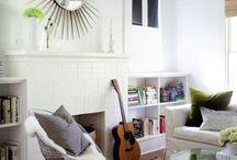 Fireplace book shelving ideas