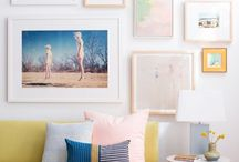 HANGING ART / Creative, low budget ideas for displaying and hanging art.