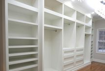 Master bedroom closet / by Kristina Wilson