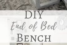 Diy's end of bed bench