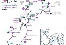 Fuentes del Vino 5 / General view of the 5 days cycle tourism route FUENTES del VINO. Vista general de la ruta de cicloturismo FUENTES del VINO en su versión de 5 días