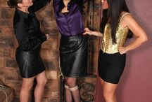 Bound in Silk and Satin / bound, gagged and blindfolded in silk and satin blouses or with scarves