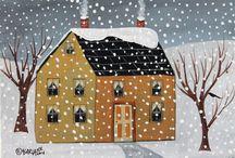 Huisjes schilderij