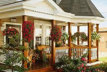 Home-Porch Designs / Idea for a Remodel of a Ranch Style Home  / by Linda Finni