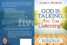 God is Talking Book / God is Talking, Are You Listening?  Available in Kindle and Paperback (July 12, 2018)  jamesrobor.com/godistalkingbook  #hearGod  #Godistalkingbook #JamesRobor #Christianbooksaregood