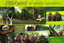 """Patrick Dougherty's 'Stickwork' sculpture """"The Royals"""" Complete at McKee Botanical Garden. / Internationally acclaimed landscape artist, Patrick Dougherty, along with McKee staff and volunteers complete """"The Royals"""" sculpture on Jan. 24, 2016 which is on display at McKee Garden now."""